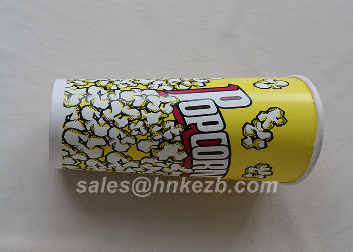 Unfolded 380ml Disposable Ice Cream Paper Cups With Logo Printed 90 * 60 * 110mm